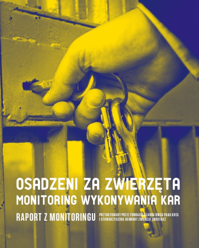"""Okładka raportu """"Osadzeni za zwierzęta. Monitoring wykonywania kar"""""""